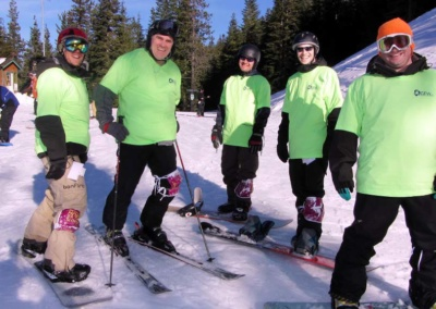 G.E.W. sponsors Prairie High School's Ski Team Hope of the Slopes – Cure for Cancer -  skiing with team is Brian Clarke managing Partner