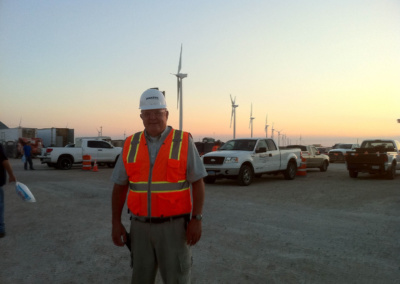 Bill Wood at wind farm in texas 2