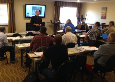 Brian Clarke at Logging Safety Initiative training for Labor and Industries