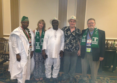 Brian and Betsy Clarke with safety delegation from Nigeria ASSE Society President Warren Brown