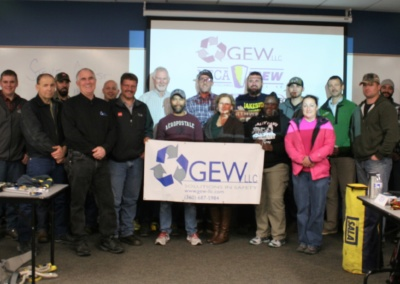 Fall protection class co-sponsored by G.E.W.llc with 100% of profit being donated to CWU Safety Health Management Program.