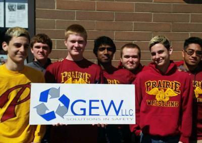 GEW proud supporter of the Prairie High School Wrestling team